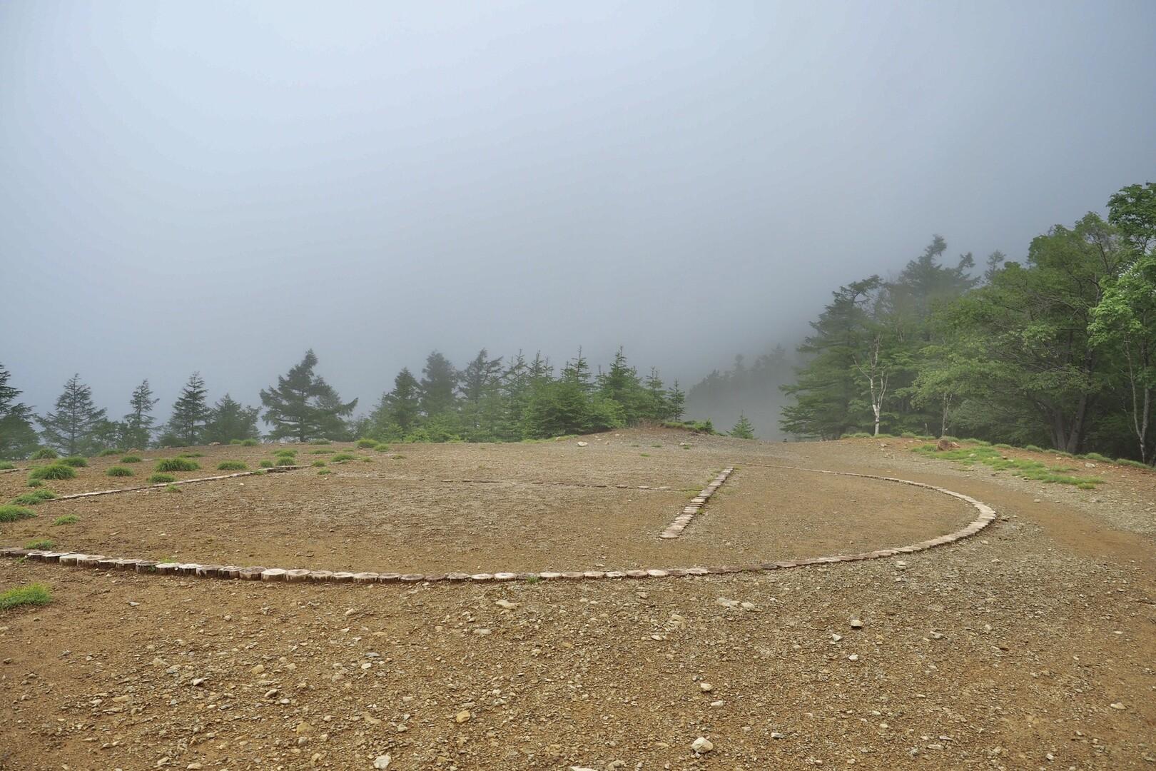 ヘリポート!ここから雲取山荘まで一所懸命に運ぶんだなぁ。まだ結構な距離あるぞ🚁