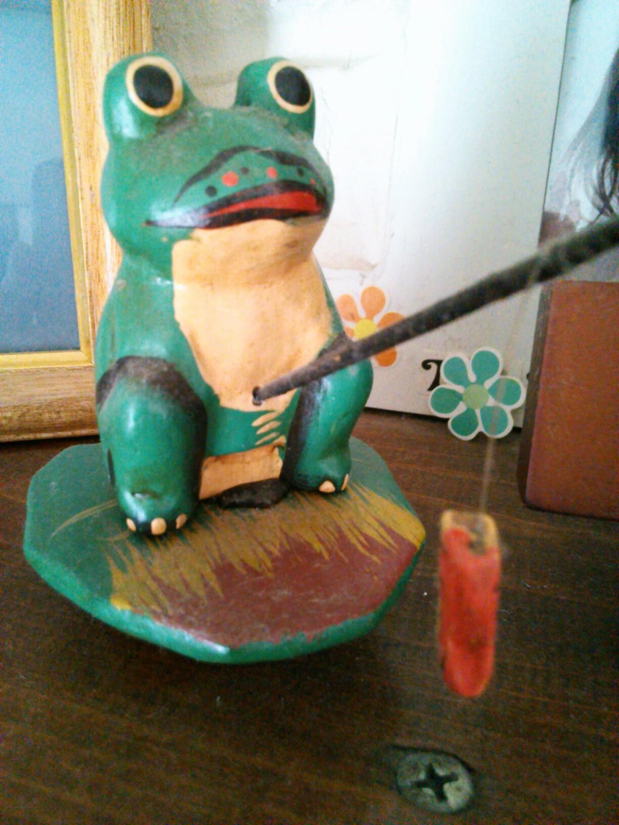 岩魚釣り蛙