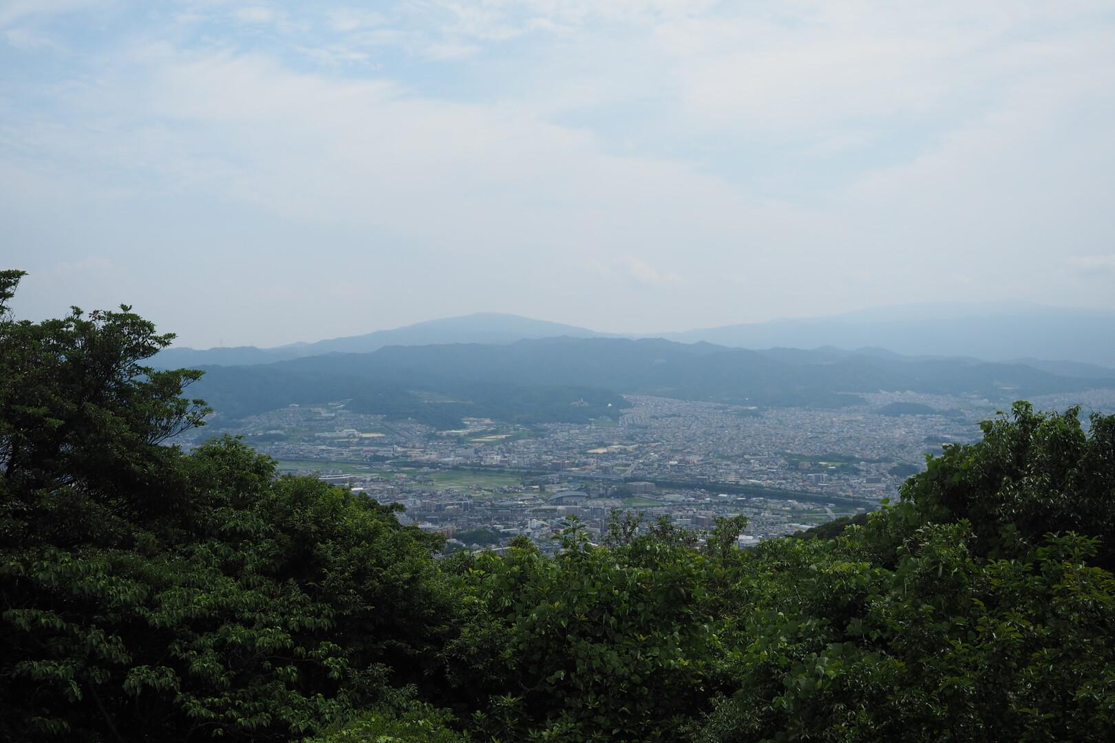 うーん、いい景色!こっちからは福岡市内が望める。