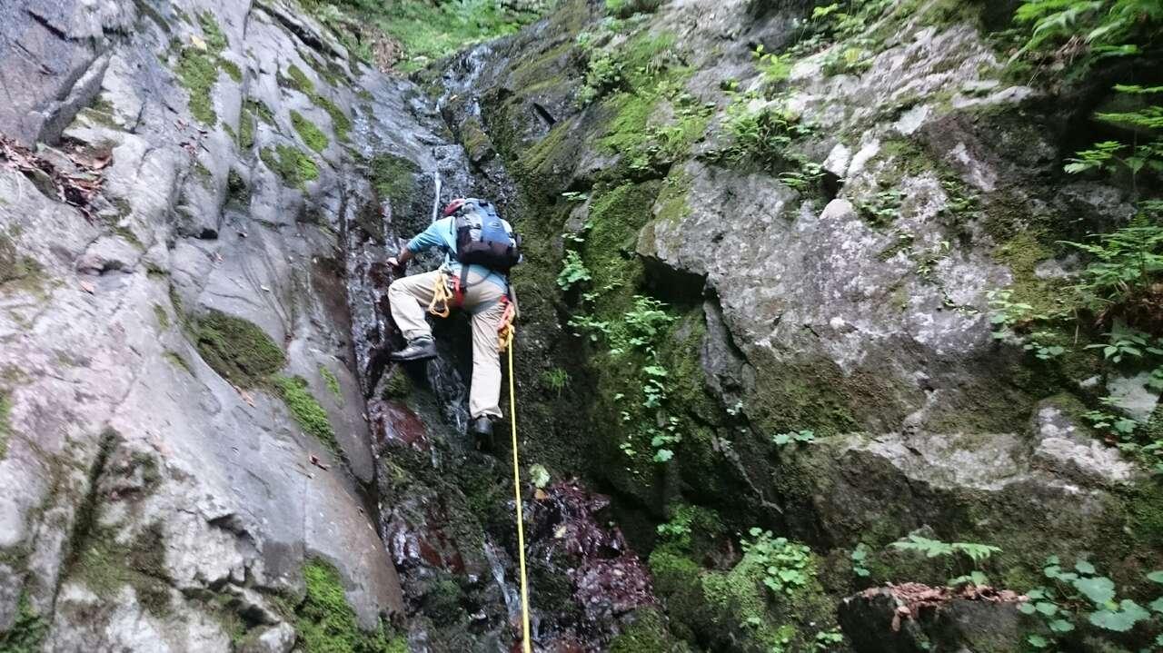 10m滝 ここから先の滝は全て直登できる