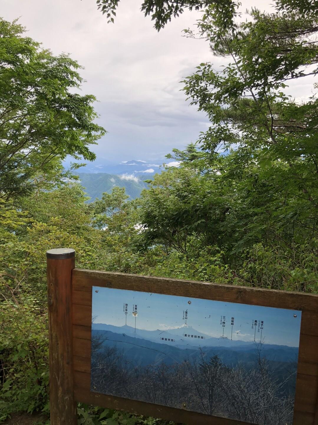 あったー!雲の向こう!(😭)<br> <br> ここで下の句ができましたと。<br> <br> 青梅雨の 富士はいずこや 三頭山<br> <br> トホホノホー<br> 帰ろう。